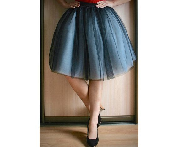 ombre tulle skirt two tone tulle skirt two colors by MyJoLoDesign-$85.00+-Assorted Colors