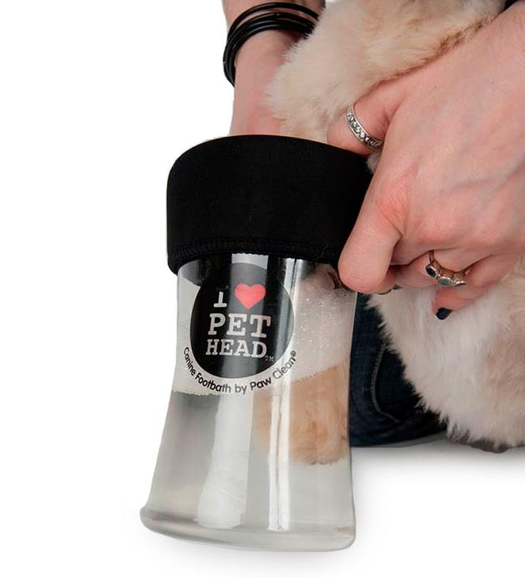 The next time your pet comes home with dirty paws, give them a quick clean with this Pet Head Portable Paw Wash paw cleaner and you'll be amazed at the difference. Fill the clear canister up to the water level line, insert paws, swirl and shake (like a pawtini!), draw the dog's paws up through the neoprene seal, then pat dry with the included microfiber towel for an extra deep clean.