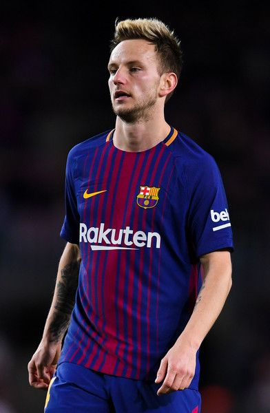 Ivan Rakitic of FC Barcelona looks on during the Copa del Rey round of 16 second leg match between FC Barcelona and Celta de Vigo at Camp Nou on January 11, 2018 in Barcelona.