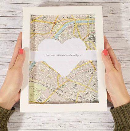#DIY #Geschenkidee #Valentinstag #Dekoration #Interior #Weltkarte Dieses  Tolle, Persönliche