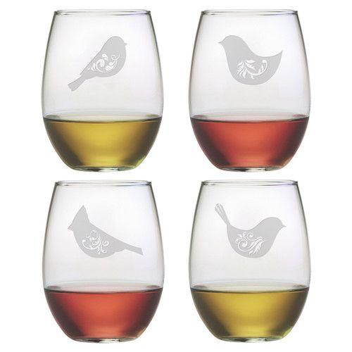 Bird wine glasses.