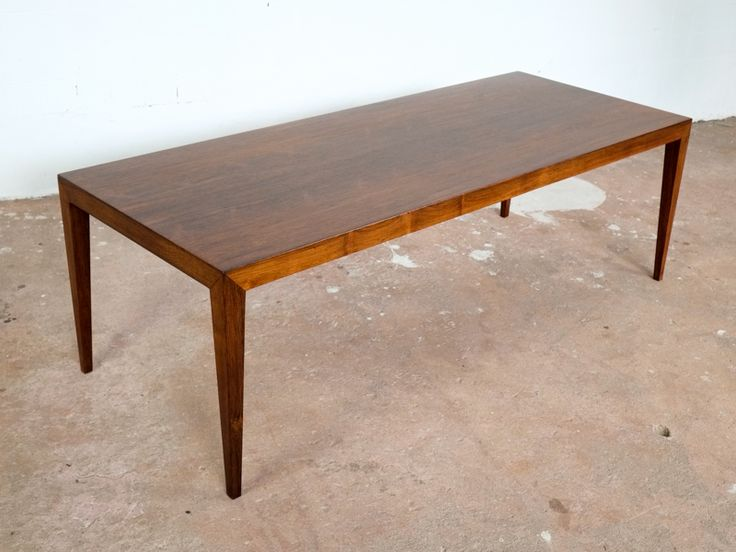 Big Coffee Table in Rosewood by Severin Hansen for Haslev