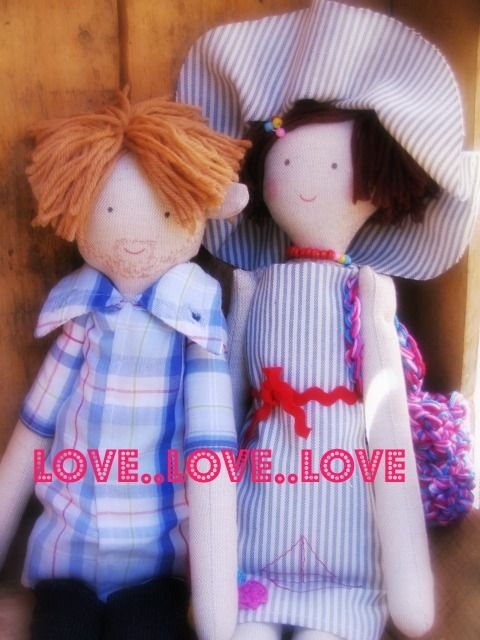 LOVE.. rag doll couple .. Lovers by apaCukababa https://www.facebook.com/ApaCukababa