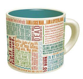 Greatest First Lines of Literature Mug   Every writer needs a mug (for coffee, tea, or pencils)