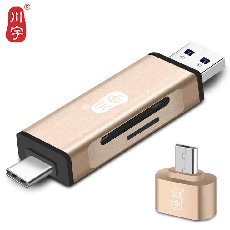 Kawau 3.1 OTG Card Reader TypeC USB MicroUSB Adapter with Micro SD Card / SD Card Slot C350 Memory Card Reader for Mobile Phone