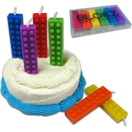 Lego candles wanttttt!Lego Cake, Birthday Candles, Birthdays, Lego Parties, Birthday Parties Ideas, Lego Candles, Lego Birthday, Birthday Party Ideas, Birthday Cakes