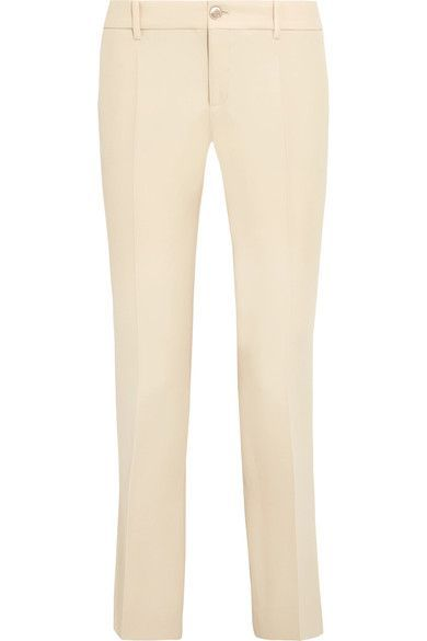 GUCCI Wool and silk-blend flared pants - AVAILABLE HERE: http://rstyle.me/n/cp3atybcukx