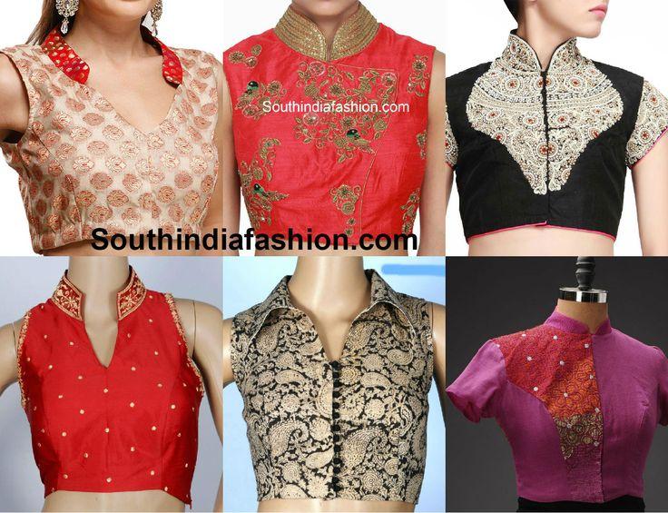 collar_neck_blouse_designs