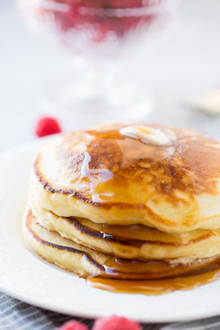 Homemade Sour Cream Pancakes So Fluffy Easy Oh Sweet Basil Recipe Sour Cream Pancakes Sweet Cream Pancakes Recipe Homemade Sour Cream