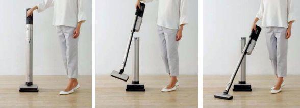 三菱電機、充電台が「空気清浄機」なコードレス掃除機を発表