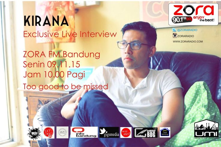 KIRANA - GET CLOSE AND LIVE INTERVIEW AT ZORA FM BANDUNG