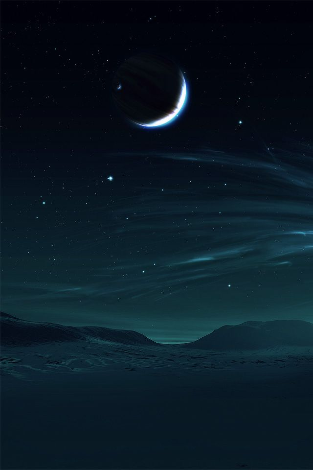 Hd Night Moon And Sea Iphone 4 Wallpapers Wallpapers Pinterest