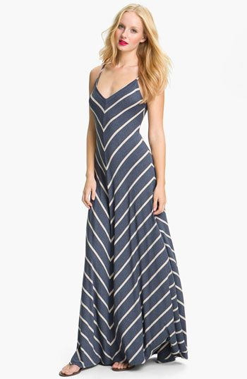 Striped summer maxi dresses