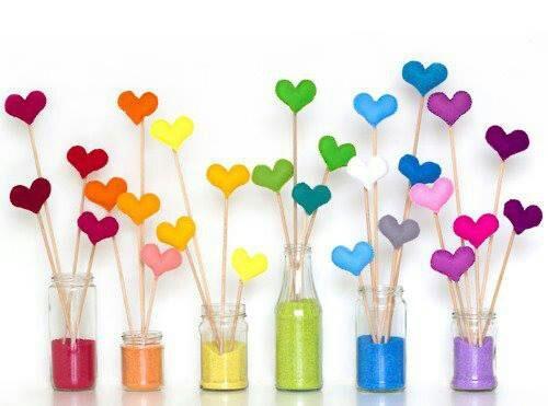 bouquet de coeurs pour la Saint valentin ❤