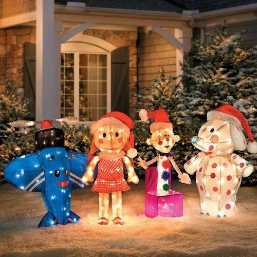 Misfit Toys Rudolph Santa Elf Christmas Yard Art Decor Light
