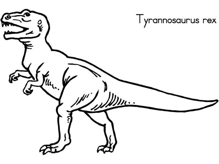 Desenhos para colorir - Desenho de dinossauro