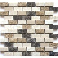 Faber 12-in x 13-in Spanish Blend Marble Mosaic Wall Tile
