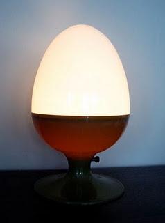 retro egg lamp