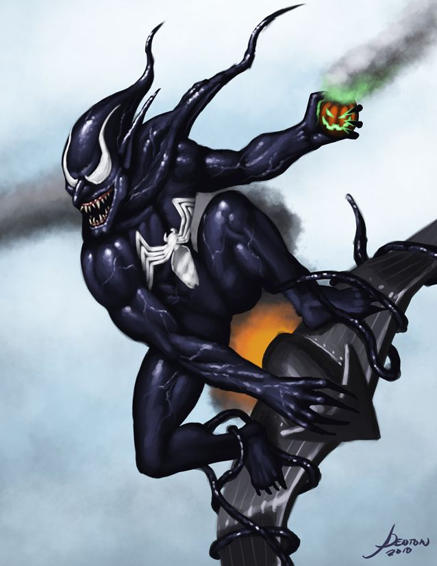 Submitted for round 4 of the tourney over at If you couldn't tell, it's the Green Goblin in the symbiote costume. Didn't have time to bang out anything better, but it'll do.