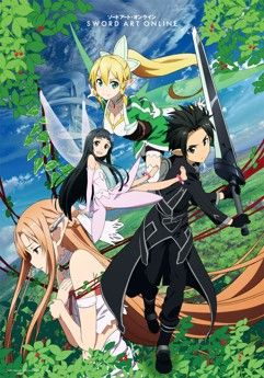 Store en tissu (Wall Scroll) - Sword Art Online (SAO) Vol.6 - Kirito, Asuna, Kirigaya et Yui (Arc 2)