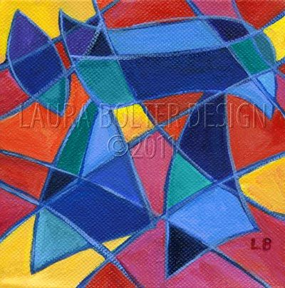 Art Print / Chai Mosaic V-Print Reproduction