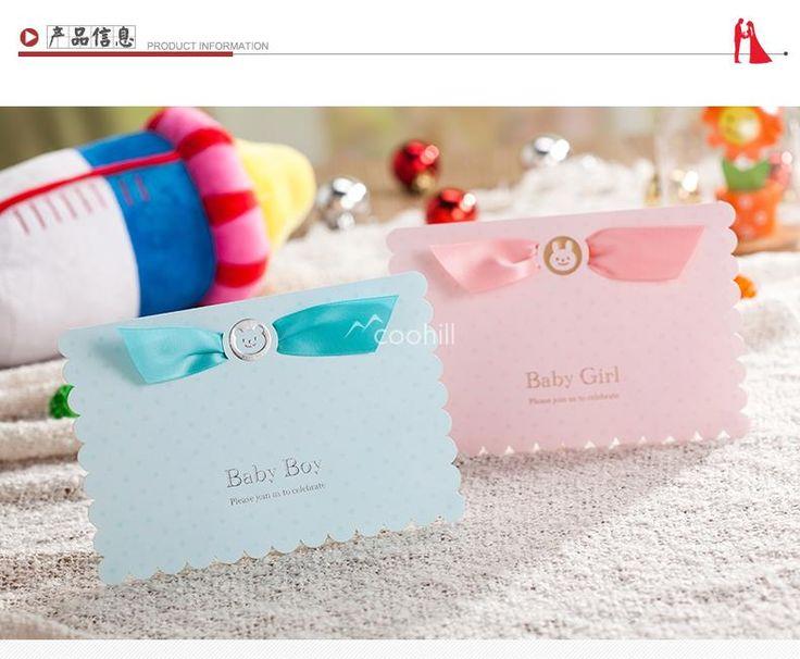 Aliexpress.com : 신뢰할수 있는 카드 파티 장식 공급업체Coohill에서 50 대 (카드 + 봉투 + 씰) 맞춤 아기 샤워 초대장 카드 새로운 아기 소녀 소년 생일 파티 초대합니다 핑크 17*11.8 센치메터을 구매합니다.