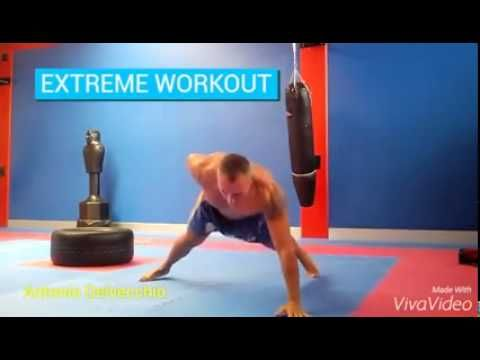 15 sec EXTREME WORKOUT by Antonio Delvecchio - sequence of three exercises, simple bending, bending an arm and plank #15sec #15secworkout #workout #fitness