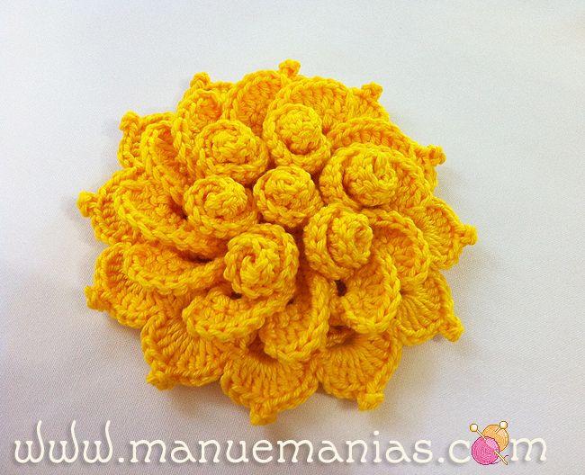 Horgolás minden mennyiségben!!!: Horgolt virág leírása