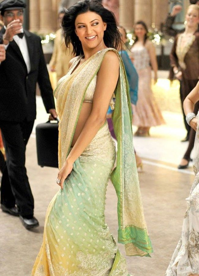 Sushmita Sen looking lovely in a Saree #Bollywood #Fashion #Style