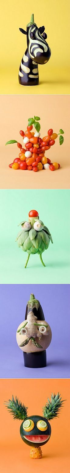 Поделки из овощей и фруктов / Я - суперпупер
