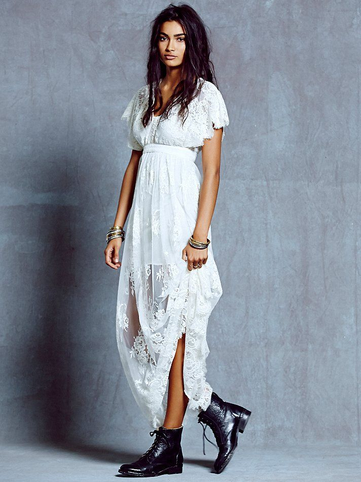 Free People Ethereal Lace Maxi, $300.00