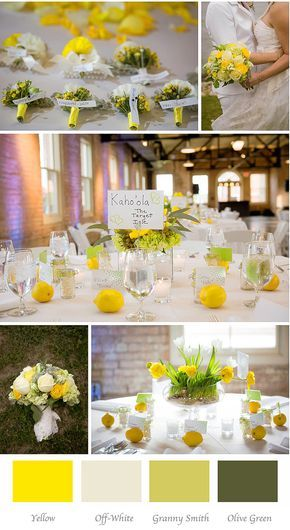 how to choose your #wedding colors  Yellow and green wedding inspiration board