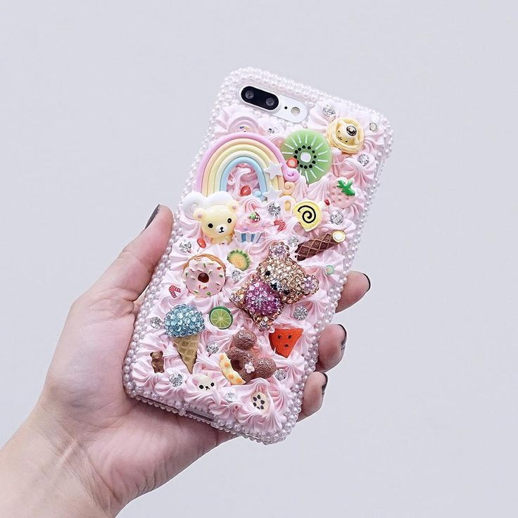 Bling Cases, custom made creamy bear case for iphone 7 / 7 plus, iphone 8, Samsung Galaxy Note, S7 / S7 Edge, S8, and all other phone models – LuxAddiction.com