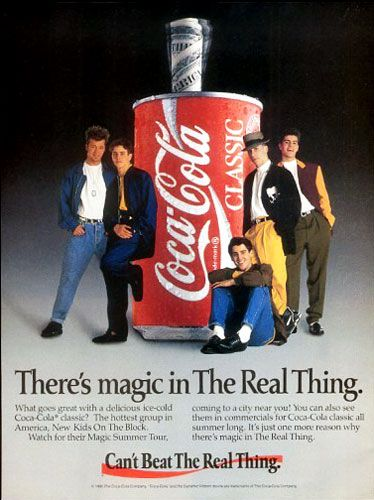 New Kids On The Block~~Takes me waaayyyy back!!!!! I won $5.00 from the coke can!!