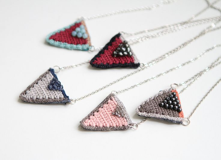 Triangles necklaces   by pompom design