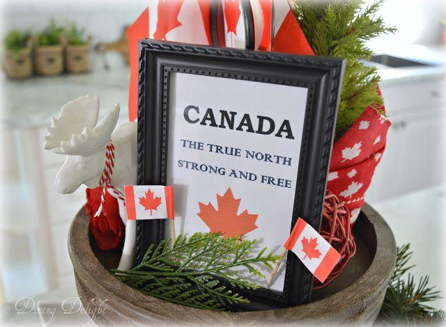 Canada Day Tiered Tray Tiered Tray Canada Day Summer Centerpieces