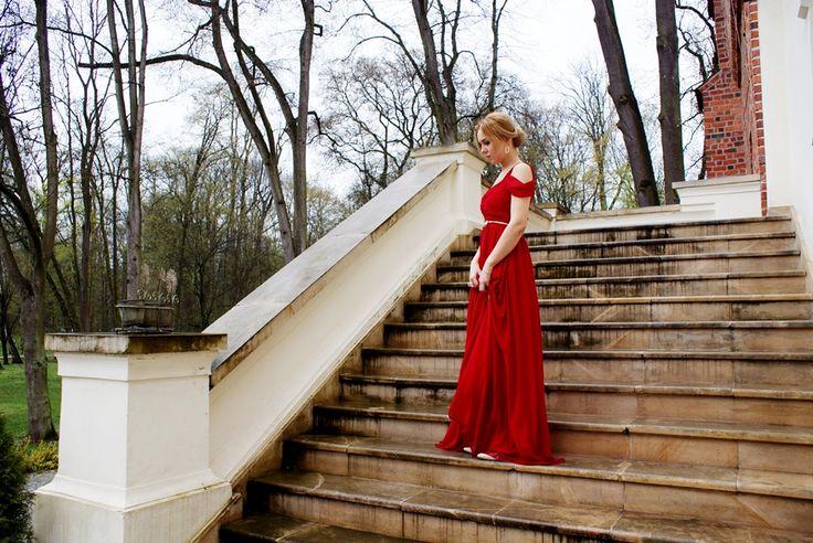 czerwona sukienka, czerwona suknia, red dress, studniówka, wesele