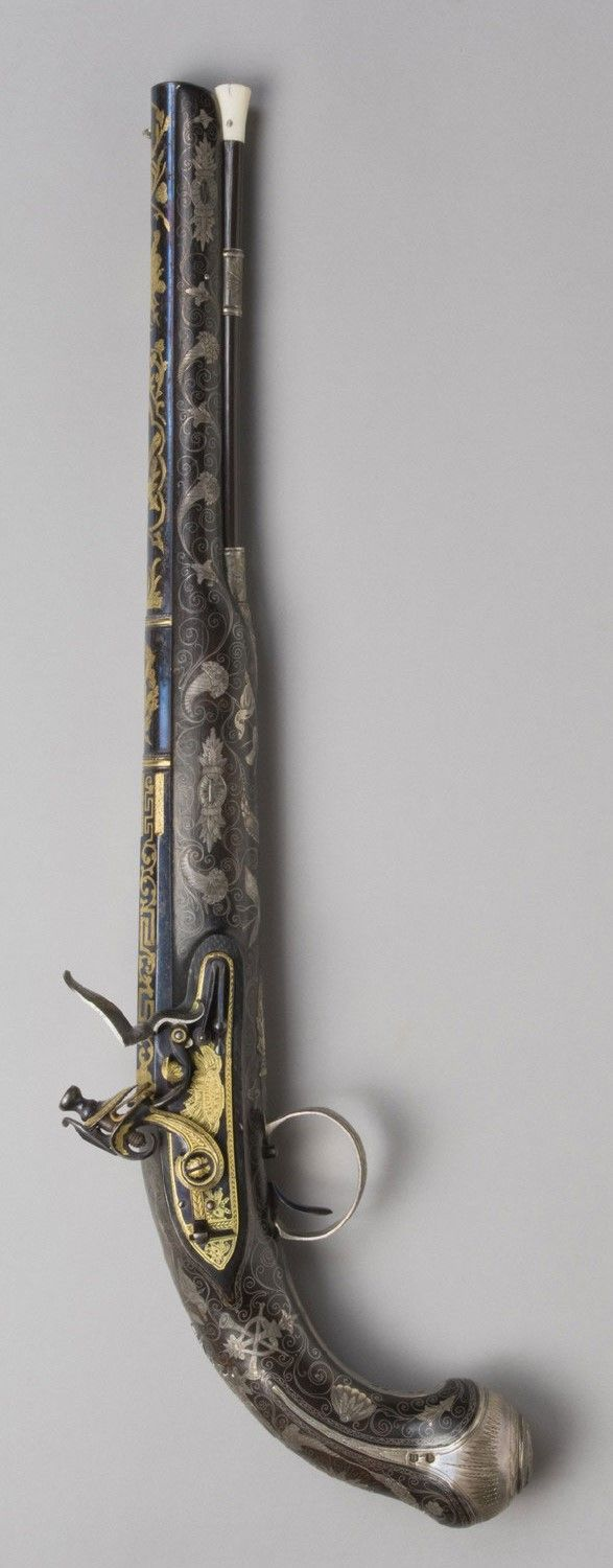 Flintlock Pistol - Made by Bennet and Lacy, London, 1776 - 1840.