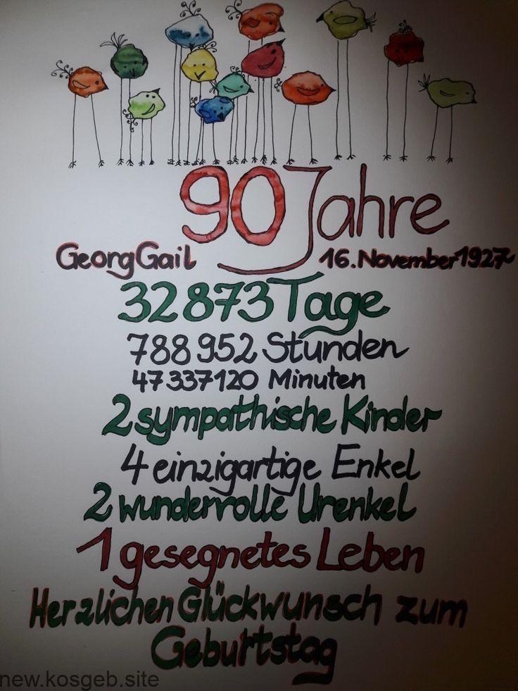 90 Jubilaum 90 Geburtstag Spruche Geburtstag Ideen 90 Geburtstag