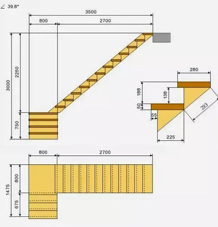 много чертежи лестниц из дерева фото строении кожи