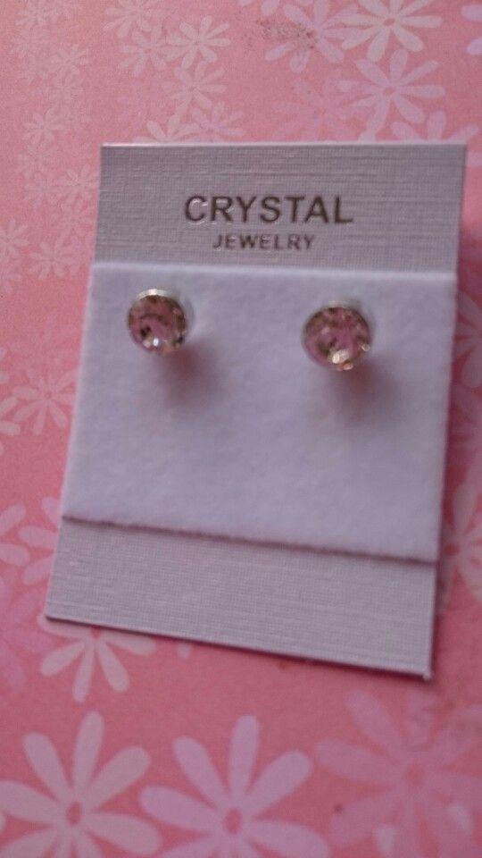 Silver plated oorbellen met kristallen 1,95