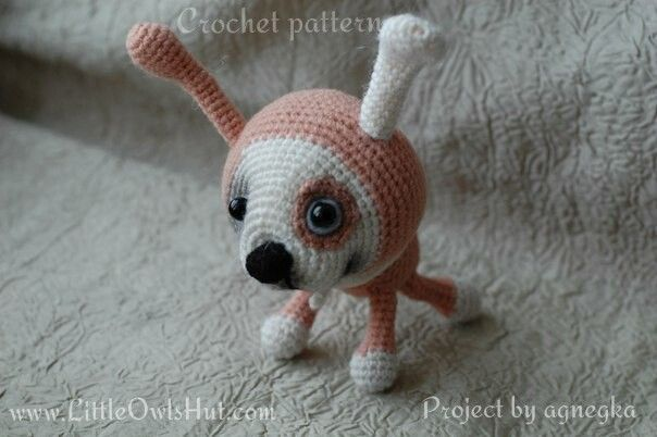 Project by agnegka. Puppy with a collar crochet pattern by Pertseva for LittleOwlsHut. #LittleOwlsHut, #Amigurumi, #CrohetPattern, #Crochet, #Crocheted, #Puppy, #Pertseva, #DIY, #Craft, #Pattern