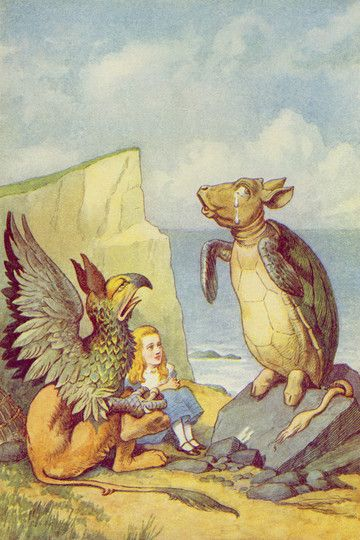The Mock Turtle and the Gryphon, illustration from 'Alice in Wonderland' by Lewis Carroll by John Tenniel