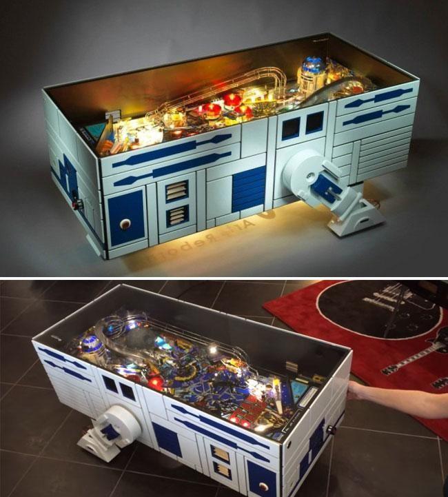 Want/ Need this R2-D2 #StarWars pinball machine.