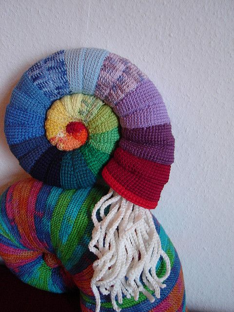 Crochet And Knitting : Crocheted rainbow ammonites. Knitting - other Pinterest Crochet ...