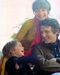Romy Schneider with husband Harry Meyen and their son David