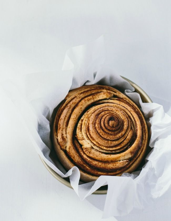 giant cinnamon buns with brown butter icing | the vanilla bean blog
