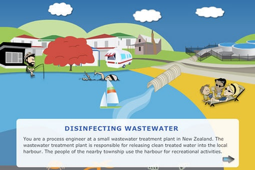 Disinfecting wastewater INTERACTIVE from the Science Learning Hub (sciencelearn.org.nz) @nzsciencelearn
