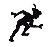 peter pan silhouette | Peter Pan Shadow Cut-out for the top of a lampshade for shadow casting ...