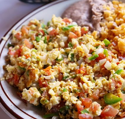 Authentic Mexican Breakfast Food  Heuvo a la Mexicana